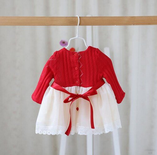 Long Sleeve Christmas Dress Baby Girl