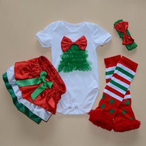 Christmas Romper Party Clothing