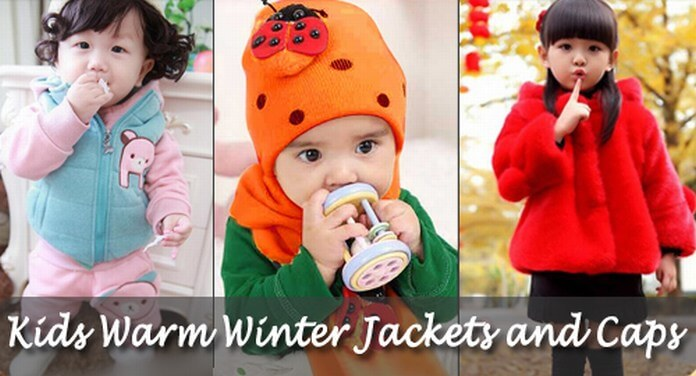 Kids Warm Winter Jackets and Caps
