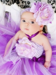 Purple and Lavender baby Tutu Dress