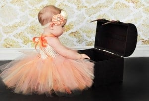 Orange and Yellow Floral Tutu Dress
