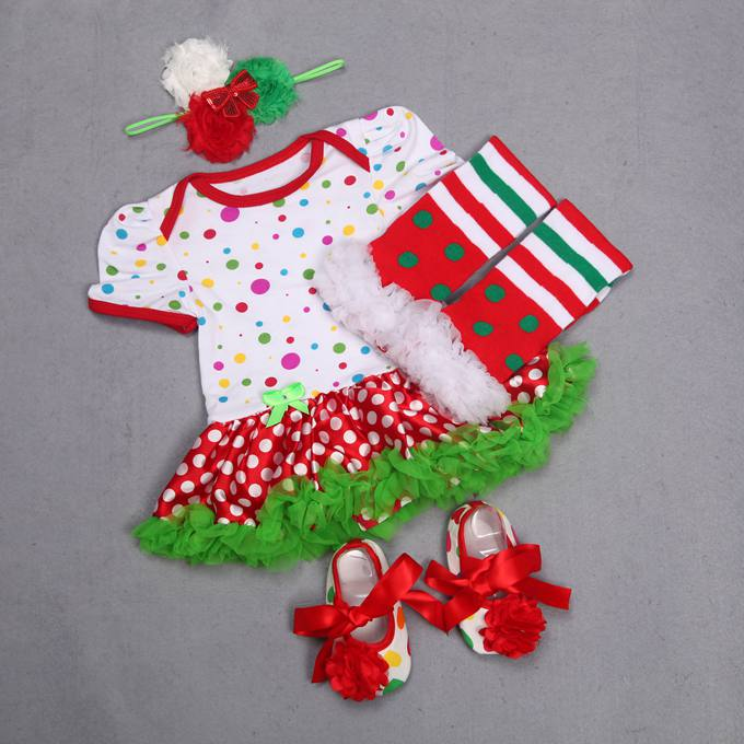 Newborn Girl 1st Christmas Outfit