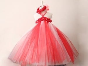 Red Tutu Designer Dress for Christmas