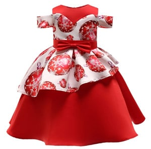 Red and White Christmas Party Dress