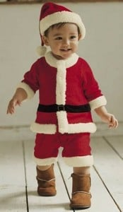 Red and White Santa Claus Costume Romper