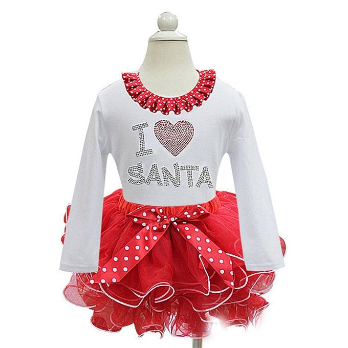 Red baby santa outfit