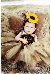 Sunflower Brown Tutu Birthday Dress