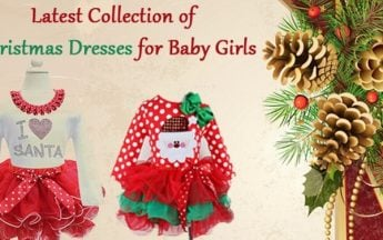 Latest Collection of Christmas Dresses for Baby Girls