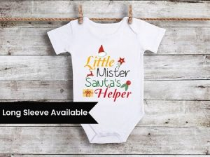 Baby Boy First Christmas Outfit, Newborn Christmas Onesie