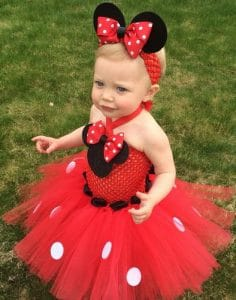 minnie mouse first christmas tutu Dress