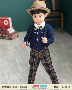 Smart Blue Formal Wedding Clothing for Boys