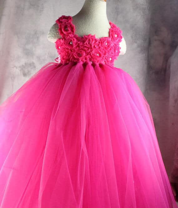 Hot Pink Toddler Tutu Dress