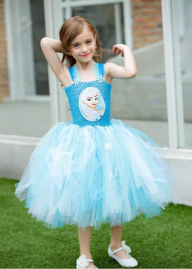 Sky Blue Baby Tutu Wedding Dress
