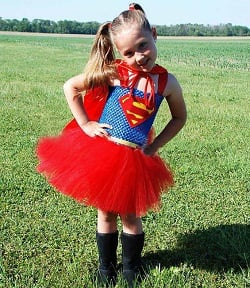 Kids Red Supergirl Tutu Dress