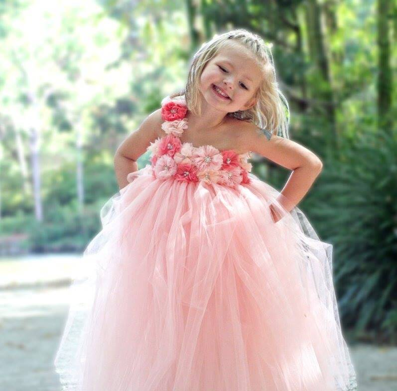 Pink Wedding Baby Tutu Dress