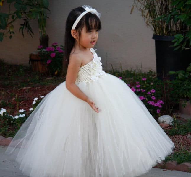 White Princess Girls Tutu Dress