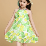 Fruit Print Casual Kids Summer Dress