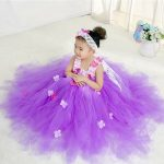 Lavender Flower Girl Wedding Party Tutus Dress