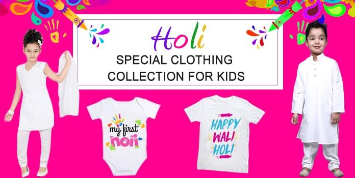 Holi Special Kids Clothing, Holi Outfits, Holi Dress Baby Boy Girl