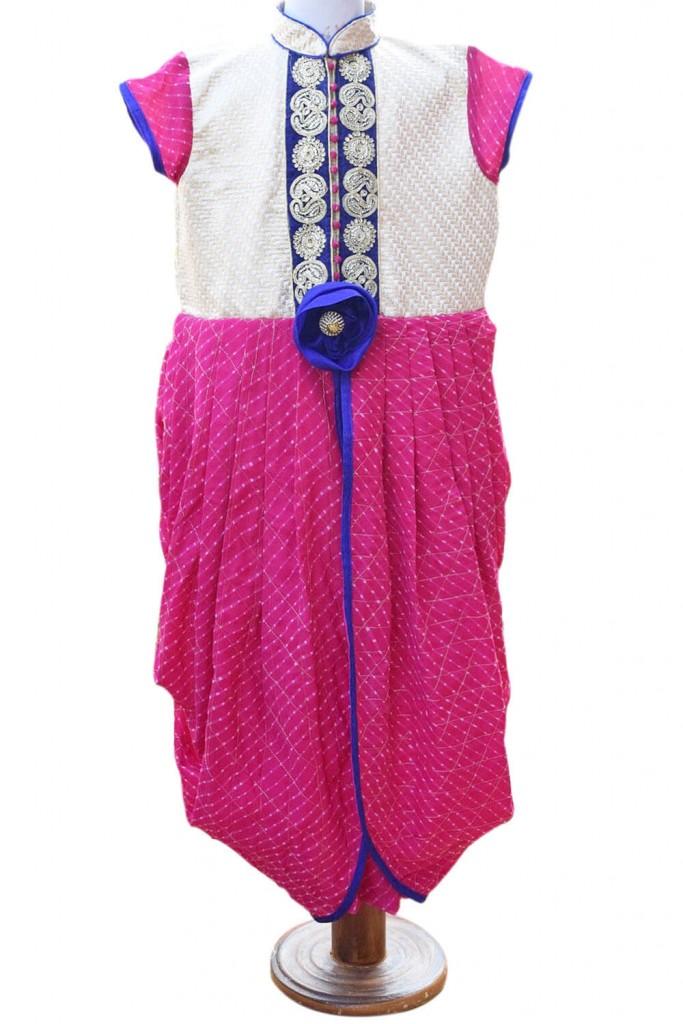 Colorful Designer Holi Special Kids Lehenga Choli