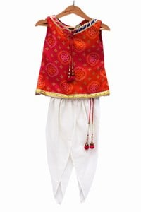 Holi Festival Baby Girl Dhoti Pant with Top