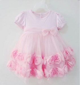 Princess Rose Flower Girl Dress