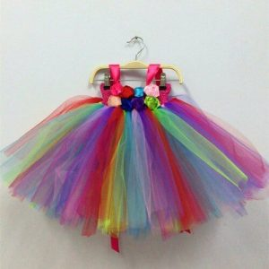 rainbow tutu party dress toddler