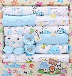 Blue Newborn Clothing Gift Set