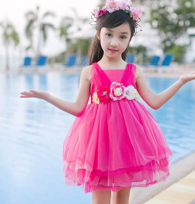 91fbac00fd7337 Cute 5 Pink Designer Birthday Party Dresses For Little Girls