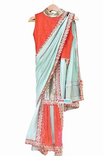 Girls Saree style dress