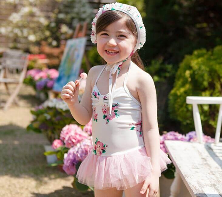 Kids Swimwear with Floral Pattern