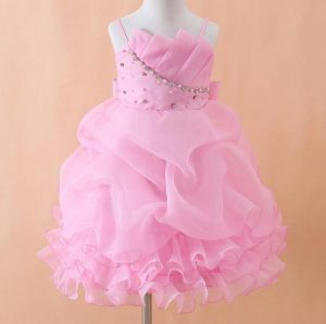 Korean Pink Baby Birthday Party Dress