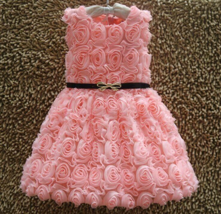 cute 5 pink designer birthday party dresses for little girls