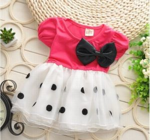 Baby Girls Polka Dot Birthday Dress