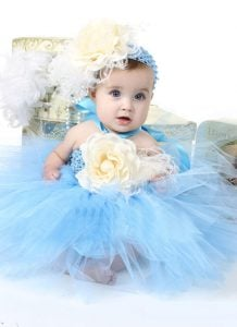 blue tutu birthday dress