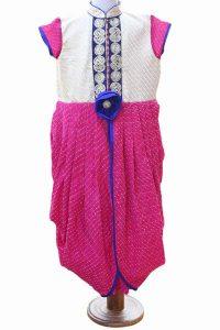Ethnic Pink Designer Gown
