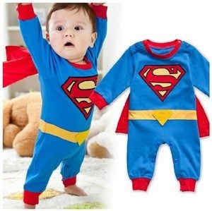 Lil Boy Superman Costume For 1st Birthday Party