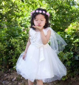 White 1st birthday party dress