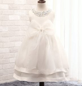 White 1st Birthday Princess Dress