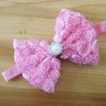 Baby Pink Bow Headband Diamond
