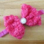Floral Pattern Bow infant Hair Band