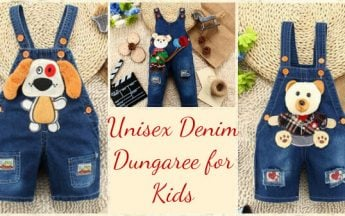 Trendy Unisex Denim Dungaree for Kids in India