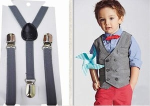 Vest and Suspender For Baby Boys