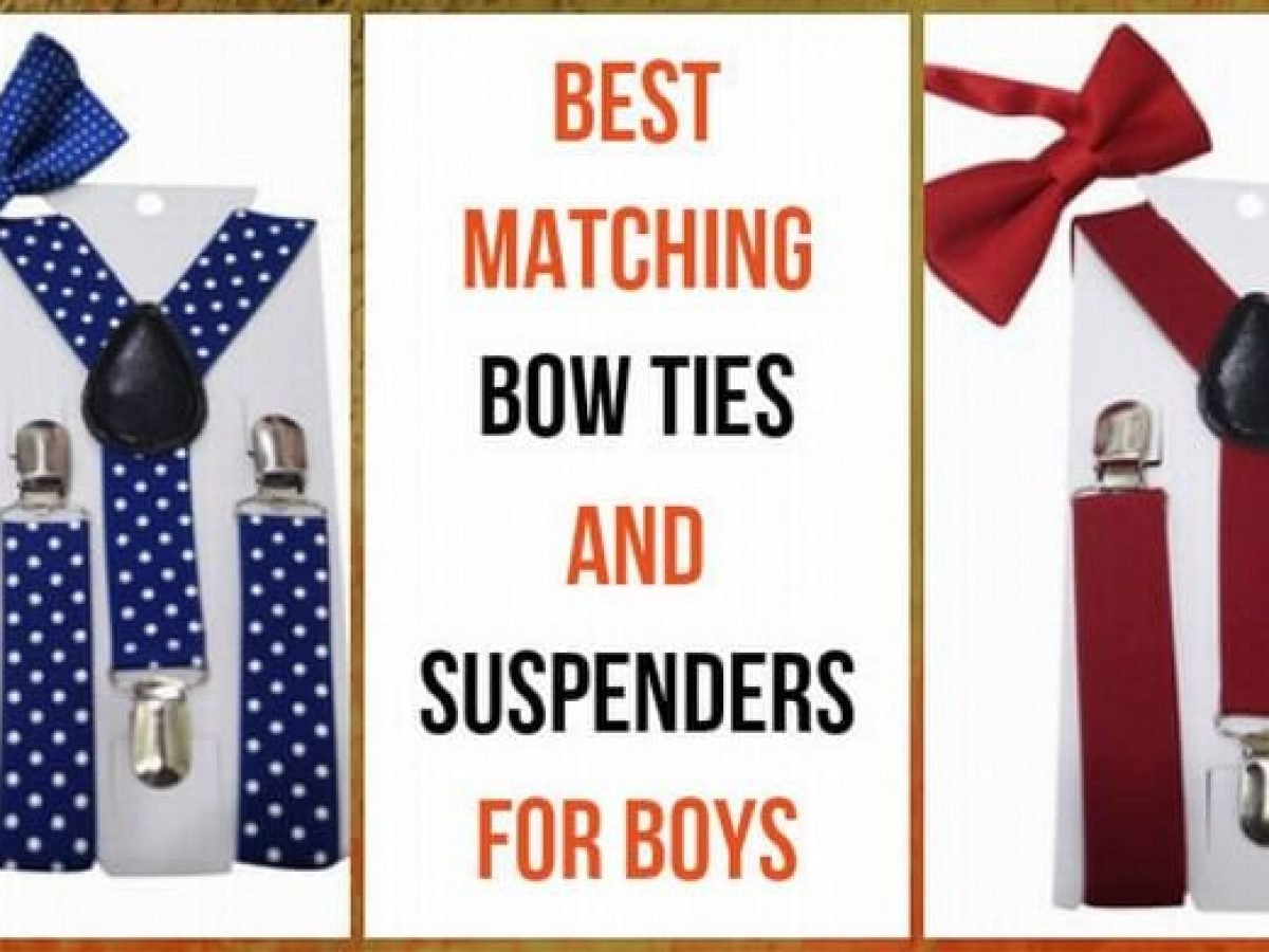 Red Baby Toddler Kids Suspenders and Bow Tie Set Combo Adjustable