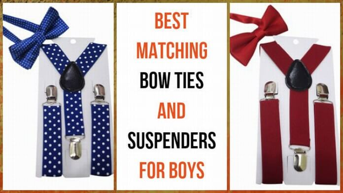 Matching Bow Ties and Suspenders for baby Boys