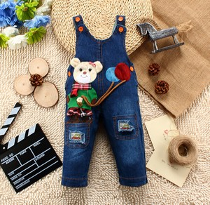 Bunny Bear Denim Dungaree for Kids