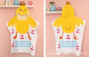 Chicken Hooded Toddler Bath Towel