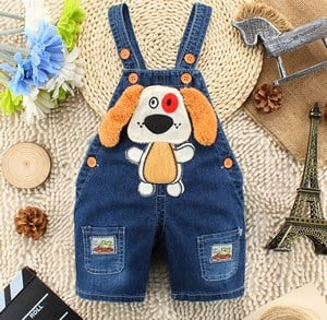 Dog Ears Toddler Dungaree Jumpsuits