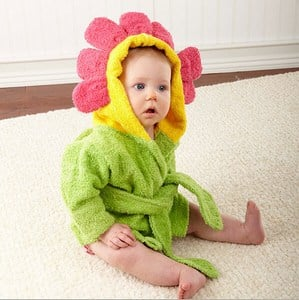 Flower Bathrobes for Kids Cotton