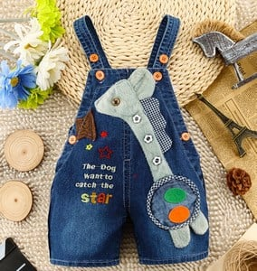Dog Kids Short Denim Dungaree India